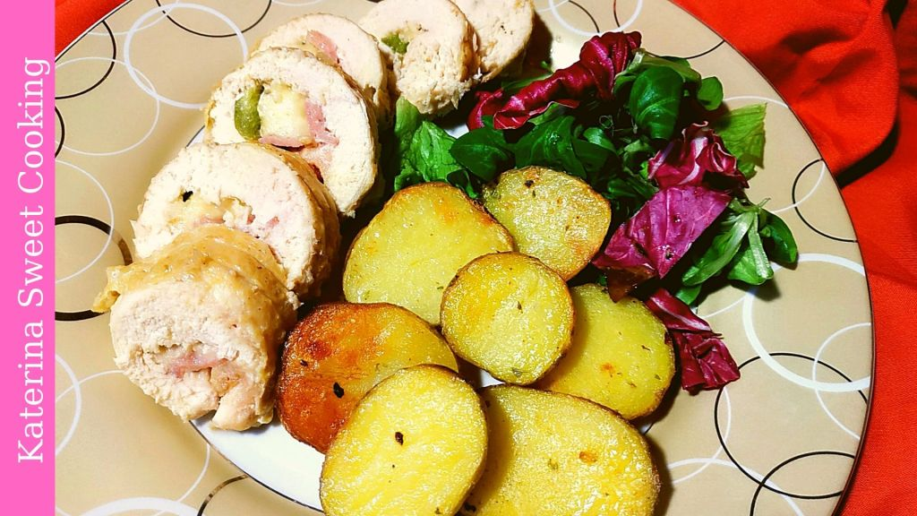 Ρολάικια κοτόπουλο με πατάτες baby
